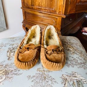 UGG Slippers (tan, size 8)